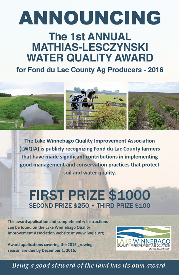 Mathias-Lesczynski Water Quality Award poster